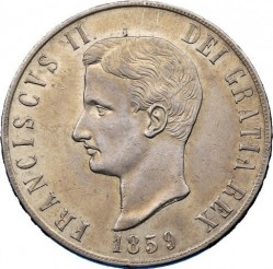 Кованица > 120grani, 1859 - Две Сицилије  (Francis II) - obverse