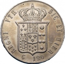Moneta > 120grani, 1859 - Dwie Sycylie  (Franciszek II) - reverse