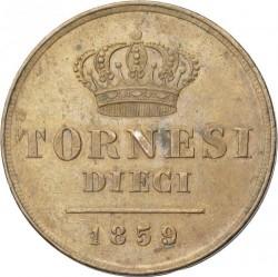 Moneda > 10tornesi, 1851-1859 - Dos Sicilias  - reverse