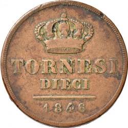 Кованица > 10tornesi, 1841-1847 - Две Сицилије  - reverse
