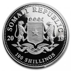 Moneta > 100szylingów, 2018 - Somalia  (Przyroda Afryki - Leopard) - reverse