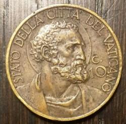 Mynt > 10centesimi, 1939-1941 - Vatikanstaten  - reverse