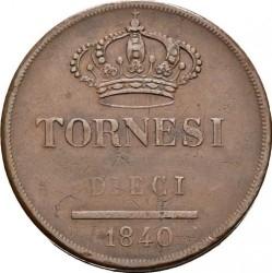 Кованица > 10tornesi, 1839-1851 - Две Сицилије  - reverse
