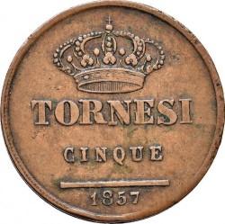 Кованица > 5tornesi, 1846-1859 - Две Сицилије  - reverse