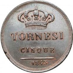 Кованица > 5tornesi, 1841-1845 - Две Сицилије  - reverse