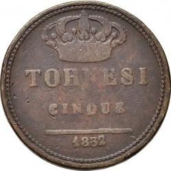 Кованица > 5tornesi, 1831-1841 - Две Сицилије  - reverse
