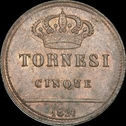 Кованица > 5tornesi, 1826-1827 - Две Сицилије  - reverse