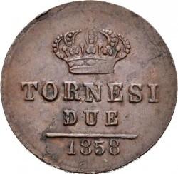Кованица > 2tornesi, 1857-1859 - Две Сицилије  - reverse