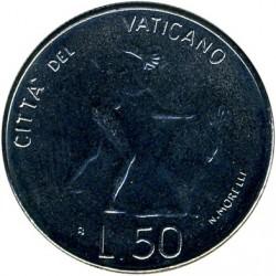 Moneta > 50lirów, 1983 - Watykan  (Wygnanie Adama i Ewy) - obverse