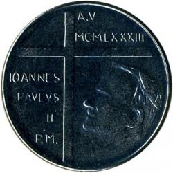 Moneta > 50lirów, 1983 - Watykan  (Wygnanie Adama i Ewy) - reverse