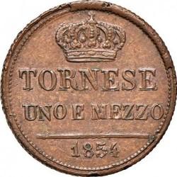 Кованица > 1½tornese, 1849-1854 - Две Сицилије  - reverse