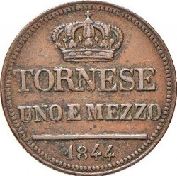 Münze > 1½Tornese, 1844-1848 - Beide Sizilien  - reverse