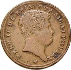 Кованица > 1tornese, 1832-1848 - Две Сицилије  - obverse