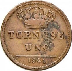 Кованица > 1tornese, 1832-1848 - Две Сицилије  - reverse