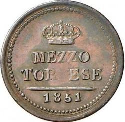 Moneda > ½tornese, 1847-1854 - Dos Sicilias  - reverse