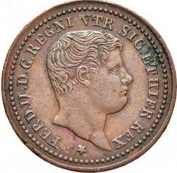 Кованица > ½tornese, 1832-1847 - Две Сицилије  - obverse