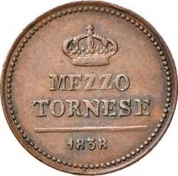 Кованица > ½tornese, 1832-1847 - Две Сицилије  - reverse