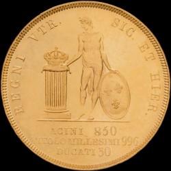 Кованица > 30ducat, 1839-1840 - Две Сицилије  - reverse