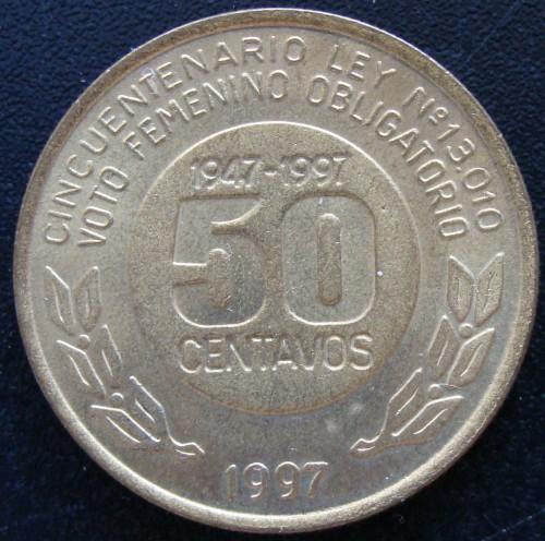 Details about  /eva peron rare commemorative agentine coin 50th aniversary law female vote 1997
