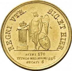 Кованица > 6ducat, 1831-1835 - Две Сицилије  - reverse
