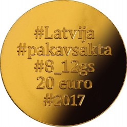 מטבע > 20אירו, 2017 - לטביה  (Golden Brooch - Horseshoe) - reverse
