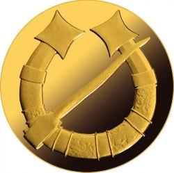 Coin > 20euro, 2017 - Latvia  (Golden Brooch - Horseshoe) - reverse