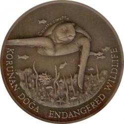 Moneta > 50.000lir, 1995 - Turcja  (Zagrożone gatunki - Żółw) - reverse
