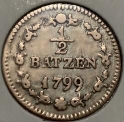 Moneta > ½batzen, 1799-1803 - Svizzera  - obverse