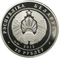 Moneda > 20rublos, 2012 - Bielorrusia  (90th Anniversary of Belarusbank) - obverse