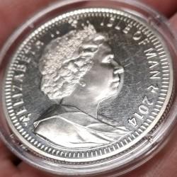 Монета > 1крона, 2014 - Острів Мен  (70th Anniversary - D-Day, Кольорове покриття) - obverse