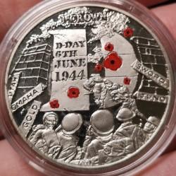 Монета > 1крона, 2014 - Острів Мен  (70th Anniversary - D-Day, Кольорове покриття) - reverse