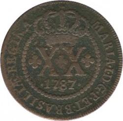 Coin > 20reis, 1786-1799 - Brazil  - obverse