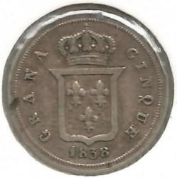 Кованица > 5grani, 1836-1847 - Две Сицилије  - reverse