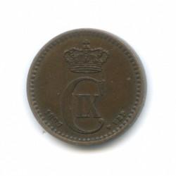 Moneda > 1öre, 1897 - Dinamarca  - obverse