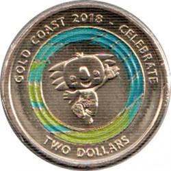 Moneta > 2dolary, 2018 - Australia  (XXI Igrzyska Wspólnoty Narodów 2018 - Borobi) - reverse