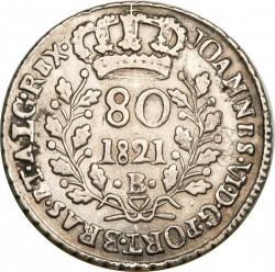 Moneta > 80reis, 1818-1821 - Brasile  (Argento/colore grigio/) - obverse