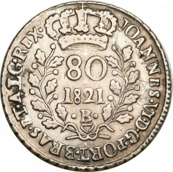 Moneta > 80reis, 1818-1821 - Brasile  (Argento/colore grigio/) - reverse