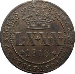 Монета > 80рейсов, 1818 - Бразилия  (Медь /коричневый цвет/) - obverse