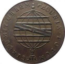 Монета > 80рейсов, 1818 - Бразилия  (Медь /коричневый цвет/) - reverse
