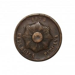Moneda > 2centavos, 1876-1879 - Perú  - obverse