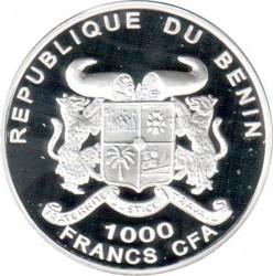 Moneda > 1000francos, 2001 - Benín  (World Cup Soccer - Germany 1974) - obverse