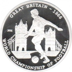 Moneda > 1000francos, 2001 - Benín  (World Cup Soccer - UK 1966) - reverse