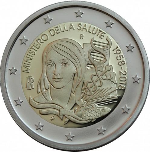 2 Euro 2018 Foundation Of The Ministry Of Health Italien Münzen