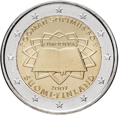 2 euros FINLANDE 2007 50e anniversaire du traité de Rome PROMO DE NOËL