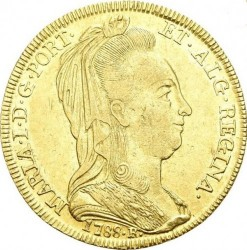 Coin > 6400reis, 1786-1790 - Brazil  - obverse
