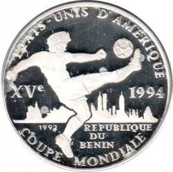 Moneda > 1000francos, 1992 - Benín  (World Cup Soccer - USA 1994) - reverse
