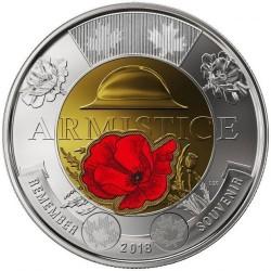 Moneta > 2dolary, 2018 - Kanada  (100 rocznica - Zakończenie I Wojny Światowej, Kolorowana) - obverse