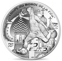 Coin > 10 euro, 2018 - France  (2018 World Football Cup Russia) - obverse