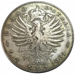 Moneda > 5liras, 1901 - Italia  - reverse