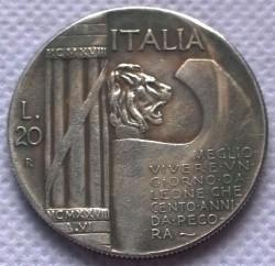 Moneda > 20liras, 1928 - Italia  (10 aniversario del fin de la Primera Guerra Mundial) - reverse